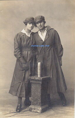 WWI Female Ammunition Factory Workers. Real Photographic Postcard.
