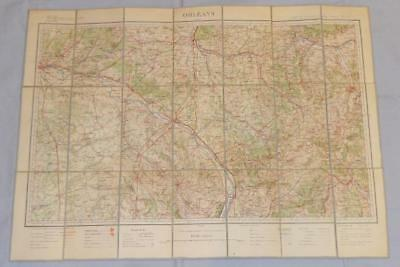 Antique French Army Linen Map - Number 33 - Orleans 1903-04