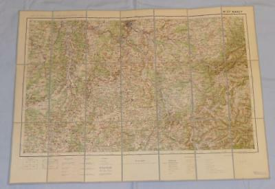 Antique French Army Linen Map - Number 27 - Nancy 1912