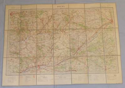 Antique French Army Linen Map - Number 32 - Tours 1904-06