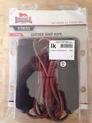 lonsdale leather jump rope 275cm brand new in packaging