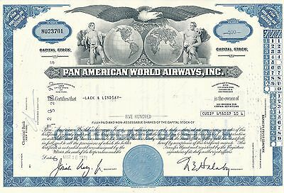 Pan American World Airways Aktie USA Fluglinie Luftfahrt Transport Pan Am 1971