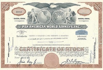 Pan American World Airways Aktie USA Fluglinie Luftfahrt Transport Pan Am 1968