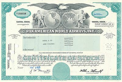 Pan American World Airways Aktie USA Fluglinie Luftfahrt Transport Pan Am 1979