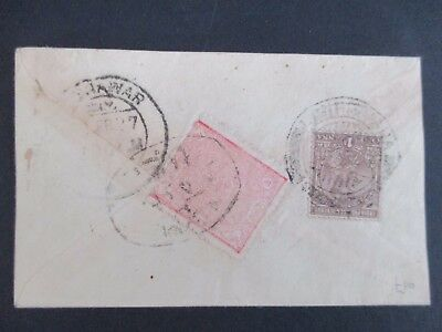 INDIAN STATES - 1920s GV COVER - FROM PESHAWAR -  MIXED STATES/INDIAN FRANKING