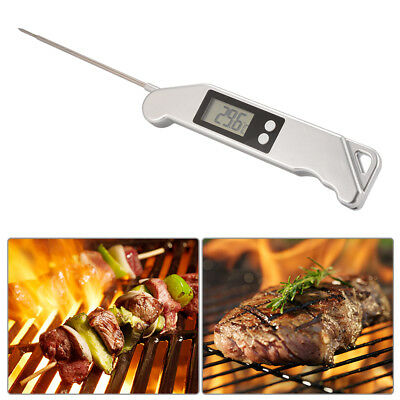 Electronic Food Thermometer Folding Stainless Steel Probe Kitchen Cooking BI807