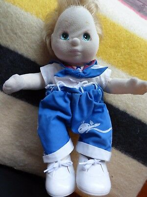 My Child Doll Mattel blond hair green eyes blue sailor outfit  white shoes