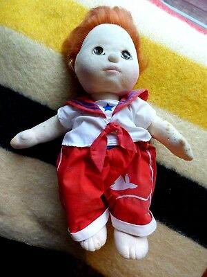 My Child Doll Mattel 1985 strawberry red hair brown eyes sailor outfit