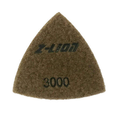 80mm Thick Triangular Diamond Polishing Pads for Grinding 1 Piece, 3000 Grit