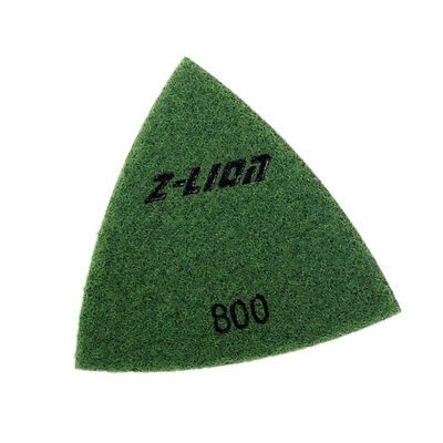 800 Grit Triangular Polishing Diamond Pads for Oscillating Tool Size 80mm