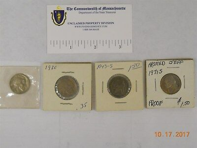 (4) Us Nickels, Buffalo, Wartime And Proof