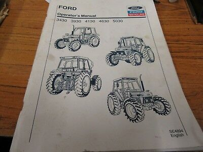 Ford 3430/3930/4130/4630/5030 Operator's Manual
