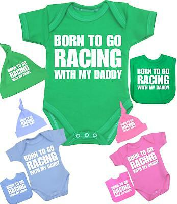 BabyPrem Baby Clothes RACING DADDY Set One-Piece Hat & Bib Christmas Gift 0000-1