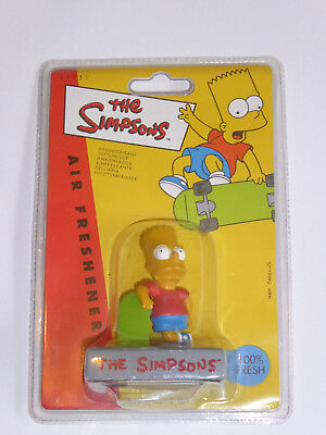 The Simpsons - Bart Air Freshner - 1998 Vintage Retro Collectors Item NEW Sealed