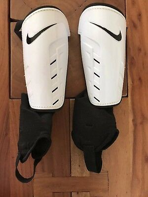 Nike boys white Shin Guards