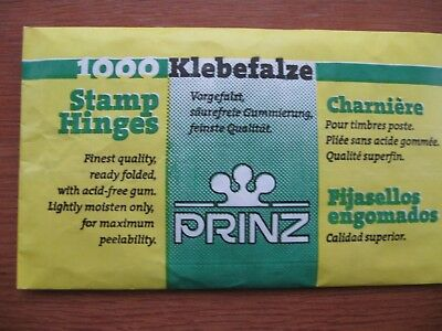 1000 PRINZ STAMP HINGES, NEW, FREE POSTAGE, ONLY £1.75p