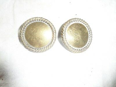 Pair Of Brass Harness Bridle Rosettes Used Condition More Listed