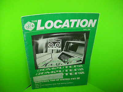 AMOA The Location April 1984 Vintage Amusement Arcade & Music Trade Magazine