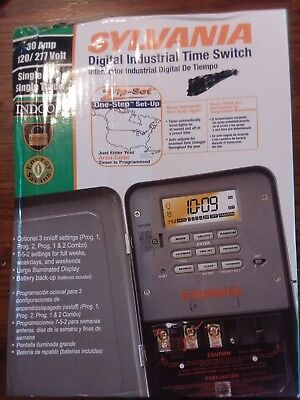 SYLVANIA 120/277 Volts Zip-Set Industrial Digital Time Switch
