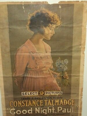 1920 Select Pictures Movie Poster Constance Talmadge Lewis Selznick