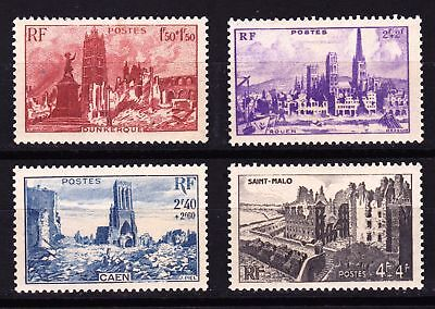 FRANCE 1945 Devastated Towns - 4 MNH values  - (85)
