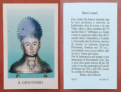 Santino Holy Card: S. San Giocondo