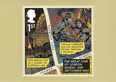 2016 THE GREAT FIRE OF LONDON NEW SEALED SET OF 6 PHQ CARDS No 420.NEW ISSUE