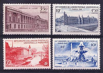 FRANCE 1947 Universal Postal Union Congress UPU -  Four MNH values - (1)
