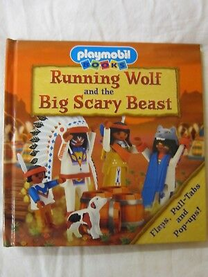 Playmobil Books Pop Up Running Wolf And The Big Scary Beast American Indian