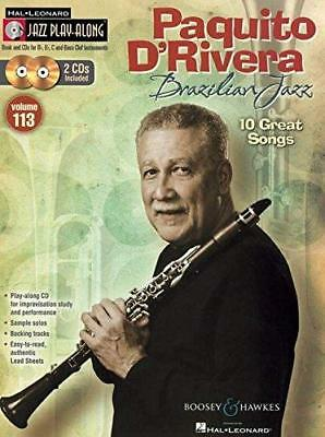 Hal Leonard PlayAlong Book and CD Set, Vol.113: Paquito D'Rivera, Brazilian Jazz