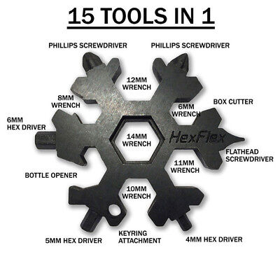 HexFlex   Multi Tool. Metric Wrenches. Black Oxide.