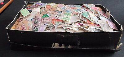 Old  Shoebox Full Of Stamps - All Periods - Est 13/14,000+ Worldwide
