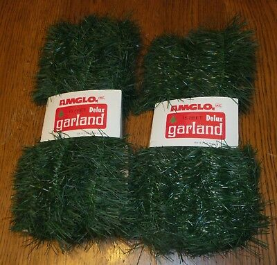 VINTAGE? AMGLO, Inc. 15 Feet Delux Garland, Lot of 2 Packages, Unused