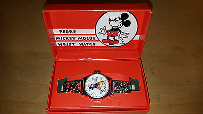 Pedre Collectible Mickey Mouse Wristwatch Limeted Edition 13646 of 25000 w/box