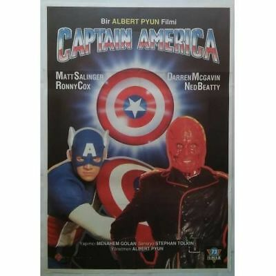 CAPTAIN AMERICA - 90's - ORIGINAL TURKISH MOVIE POSTER - MEGA RARE