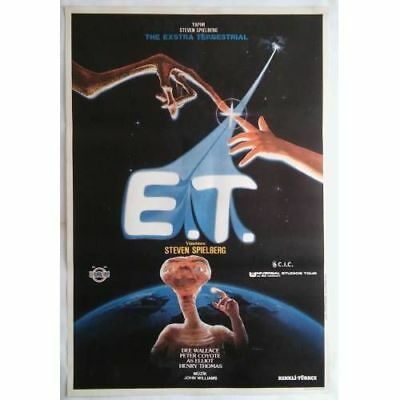 E.T. - 80's - ORIGINAL TURKISH MOVIE POSTER - SPIELBERG BARRYMORE - MEGA RARE