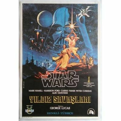 STAR WARS A NEW HOPE - 70's - ORIGINAL TURKISH MOVIE POSTER - SKYWALKER - RARE