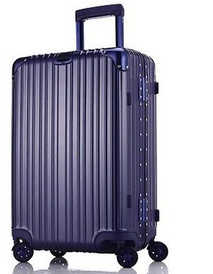 "28""Blue Width 48cm TSA Coded Lock Universal Wheel ABS+PC Travel Suitcase Luggage"