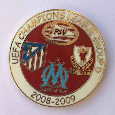 Superbe Pin's OLYMPIQUE MARSEILLE OM 2008-2009 PSV ATLETICO MADRID LIVERPOOL