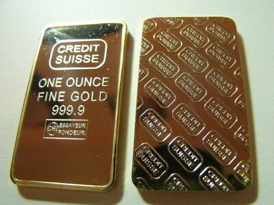 Credit Suisse 1 Oz Gold Layered  Bulion  Bar