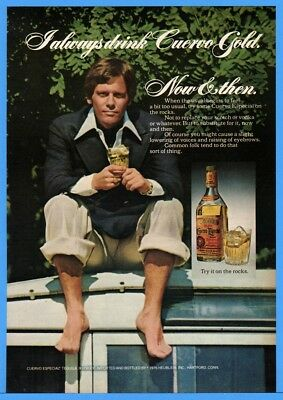 1976 Jose Cuervo Especial Tequila Good Looking Man On Boat With Drink Print Ad