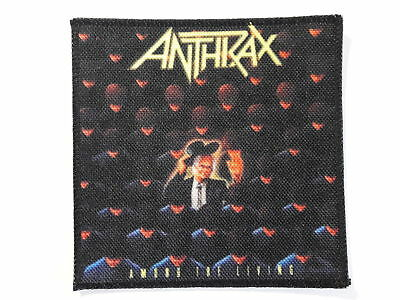 ANTHRAX Among The Living printed NEW patch thrash metal