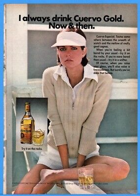 1976 Jose Cuervo Especial Tequila Pretty Woman Outside With Drink Print Ad