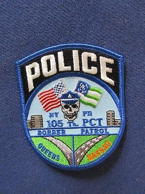 NYPD New York City Police 105 Precinct Command Patch Border Patrol Queens RARE!