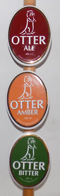Otter Brewery 3 ceramic pump clips complete with fixings