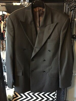 1930s, 1940s, 1950s Vintage Style Brown Wool Double Breasted Jacket