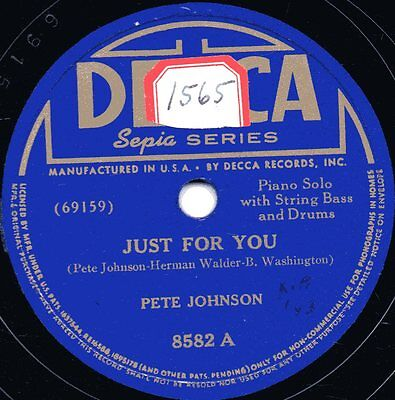 "78er Jazz Piano Boogie Woogie Pete Johnson ""Pete's Mixture"""