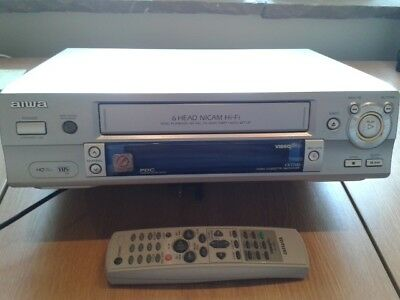 Video Cassette Recorder (VHS/VCR), AIWA FX770 6 head, with Remote, in Silver