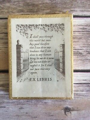 Vintage Bookplates Ex Libris Antioch Bookplate Company Yellowsprings OH (BinM)