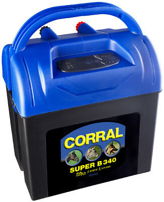 Corral Super B 340 Dry Battery Energiser - 9V - Fencing